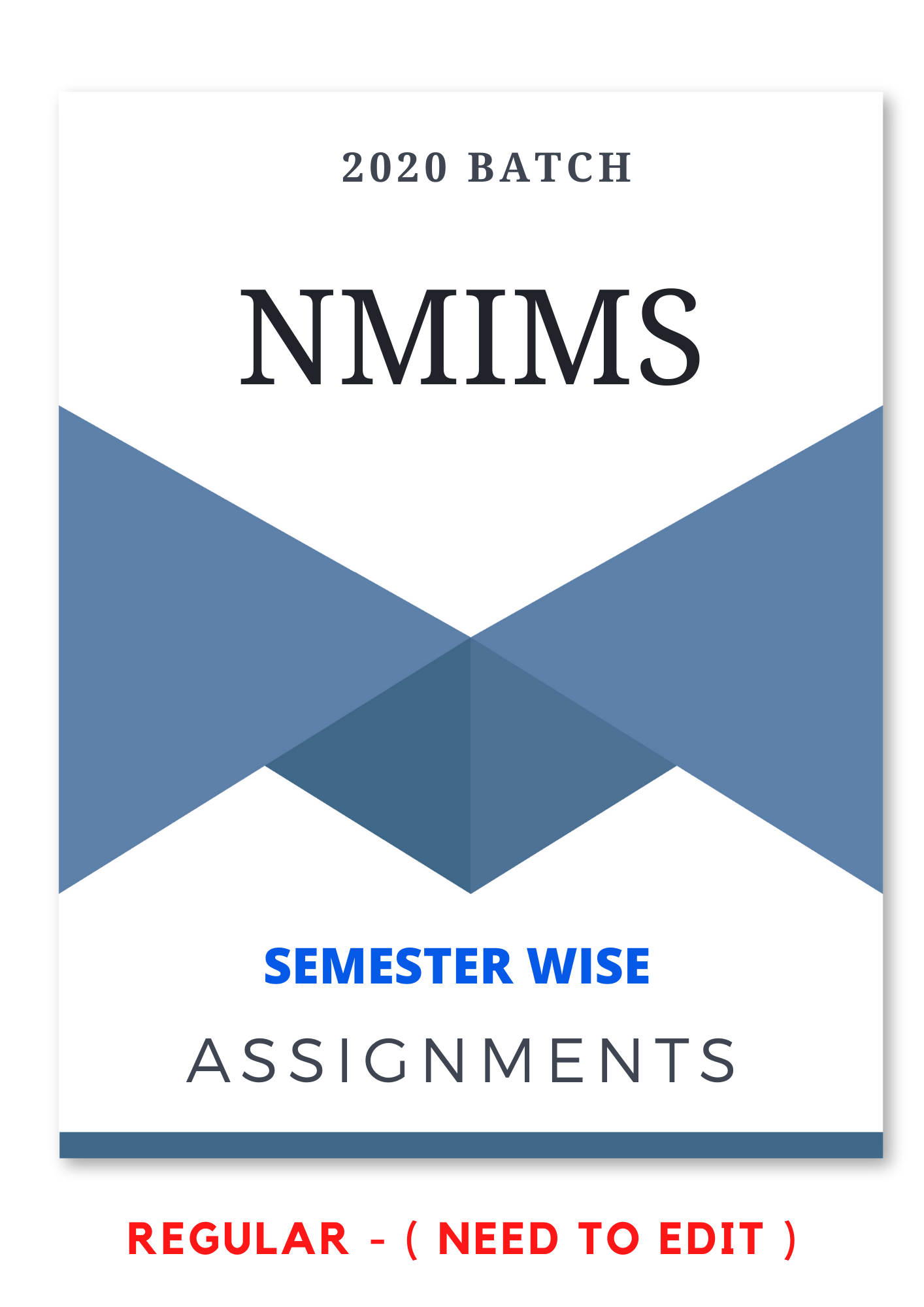 NMIMS Assignments Answer
