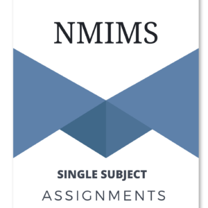 NMIMS Assignments solution 2020