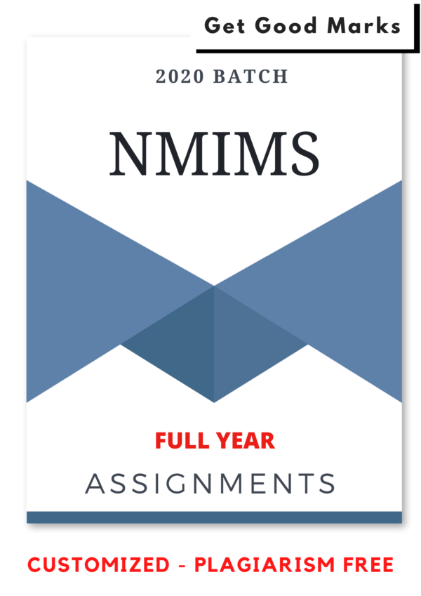 NMIMS Assignments Answer - Full Year Course